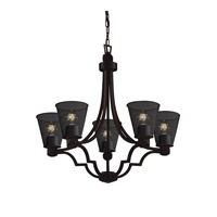 Argyle 5 Light 28 inch Dark Bronze Chandelier Ceiling Light in Cone