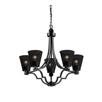 Argyle 5 Light 28 inch Matte Black Chandelier Ceiling Light in Cone
