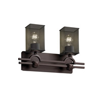 Argyle 2 Light 19 inch Dark Bronze Bath Light Wall Light in Square with Flat Rim