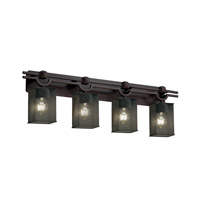 Argyle 4 Light 39 inch Dark Bronze Bath Light Wall Light in Square with Flat Rim
