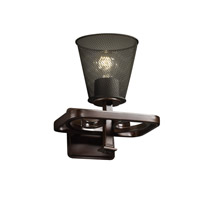 Arcadia 1 Light 9 inch Dark Bronze Wall Sconce Wall Light in Cone