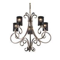 Victoria 30 inch Brushed Nickel Chandelier Ceiling Light in Cylinder with Flat Rim