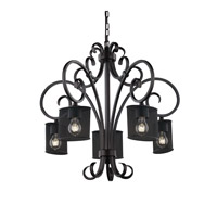 Victoria 30 inch Matte Black Chandelier Ceiling Light in Oval