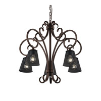 Victoria 30 inch Dark Bronze Chandelier Ceiling Light in Cone