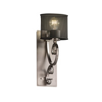 Victoria 1 Light 5 inch Brushed Nickel Wall Sconce Wall Light in Oval