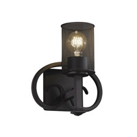 Justice Design Heritage 1 Light Wall Sconce in Matte Black MSH-8581-10-MBLK