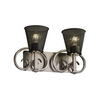 Justice Design Heritage 2 Light Bath Light in Brushed Nickel MSH-8582-50-NCKL