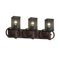 Justice Design Heritage 3 Light Bath Light in Dark Bronze MSH-8583-15-DBRZ