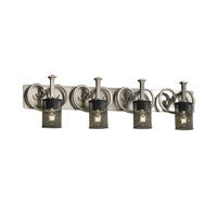 Justice Design Heritage 4 Light Bath Light in Brushed Nickel MSH-8584-10-NCKL