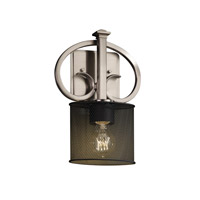 Justice Design Heritage 1 Light Wall Sconce in Brushed Nickel MSH-8587-30-NCKL