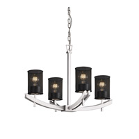 Justice Design Archway 4 Light Chandelier in Polished Chrome MSH-8590-10-CROM