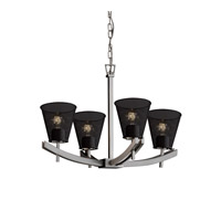 Justice Design Archway 4 Light Chandelier in Brushed Nickel MSH-8590-50-NCKL
