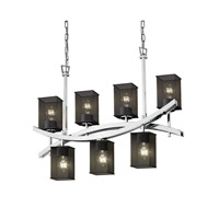 Archway 6 inch Polished Chrome Chandelier Ceiling Light in Square with Flat Rim