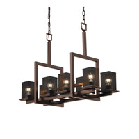 Justice Design Montana Chandelier in Dark Bronze MSH-8618-15-DBRZ