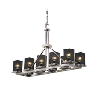 Justice Design Montana 10 Light Chandelier in Brushed Nickel MSH-8650-15-NCKL