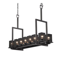 Justice Design Montana 14 Light Chandelier in Matte Black MSH-8664-15-MBLK