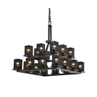 Justice Design Montana 20 Light Chandelier in Matte Black MSH-8667-15-MBLK