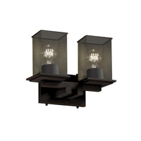 Montana 2 Light 13 inch Dark Bronze Bath Light Wall Light
