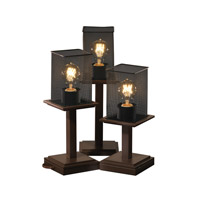 Justice Design Montana 3 Light Table Lamp in Dark Bronze MSH-8697-15-DBRZ