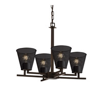 Justice Design Aero 4 Light Chandelier in Dark Bronze MSH-8700-50-DBRZ