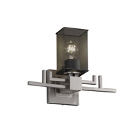 Aero 1 Light 14 inch Brushed Nickel Wall Sconce Wall Light in Square with Flat Rim
