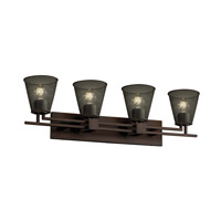 Justice Design Aero 4 Light Bath Light in Dark Bronze MSH-8704-50-DBRZ