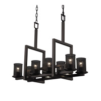 Justice Design Dakota Chandelier in Matte Black MSH-8718-10-MBLK