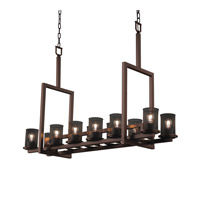 Justice Design Dakota 12 Light Chandelier in Dark Bronze MSH-8719-10-DBRZ