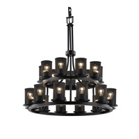 Justice Design Dakota 21 Light Chandelier in Matte Black MSH-8767-10-MBLK