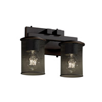 Justice Design Dakota 2 Light Bath Light in Dark Bronze MSH-8772-10-DBRZ