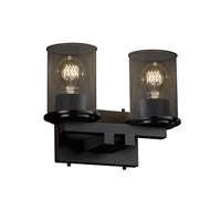 Justice Design Dakota 2 Light Bath Light in Matte Black MSH-8772-10-MBLK