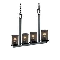 Justice Design Dakota 4 Light Chandelier in Matte Black MSH-8778-10-MBLK