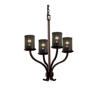 Justice Design Sonoma 4 Light Chandelier in Dark Bronze MSH-8780-10-DBRZ