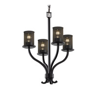 Justice Design Sonoma 4 Light Chandelier in Matte Black MSH-8780-10-MBLK