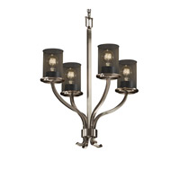 Justice Design MSH-8780-10-NCKL Sonoma 4 Light 22 inch Brushed Nickel Chandelier Ceiling Light thumb