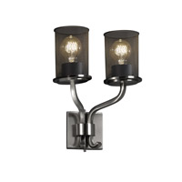 Justice Design Sonoma 2 Light Wall Sconce in Brushed Nickel MSH-8782-10-NCKL