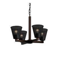 Justice Design Modular 4 Light Chandelier in Dark Bronze MSH-8829-50-DBRZ