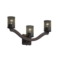 Justice Design Bend 3 Light Wall Sconce in Dark Bronze MSH-8976-10-DBRZ