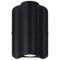Justice Design NSH-4101W-MBLK Cove LED 7 inch Matte Black Outdoor Wall Sconce