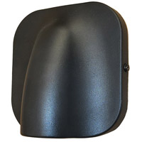 Justice Design NSH-4103W-MBLK Cove LED 6 inch Matte Black Outdoor Wall Sconce