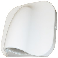 Justice Design NSH-4103W-WHTE Cove LED 6 inch Matte White Outdoor Wall Sconce