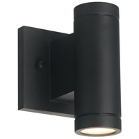 Justice Design NSH-4110W-MBLK Portico LED 7 inch Matte Black Outdoor Wall Sconce