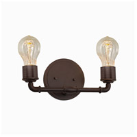 Bronx 2 Light 13 inch Dark Bronze Bath Bar Wall Light