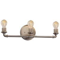 Justice Design NSH-8463-NCKL Signature 3 Light 23 inch Brushed Nickel Bath Bar Wall Light thumb