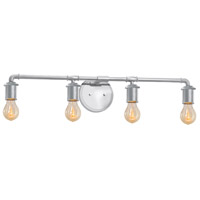 Bronx 4 Light 33 inch Polished Chrome Bath Bar Wall Light