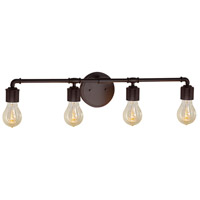 Bronx 4 Light 33 inch Dark Bronze Bath Bar Wall Light