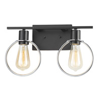 Black Chrome Bathroom Vanity Lights