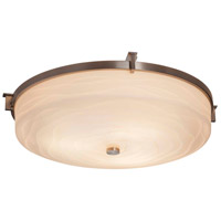 Justice Design PNA-8988-SAWT-MBLK Porcelina LED 21 inch Matte Black Flush Mount Ceiling Light