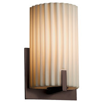 Porcelina 1 Light 6 inch Dark Bronze ADA Wall Sconce Wall Light in Fluorescent, Pleats