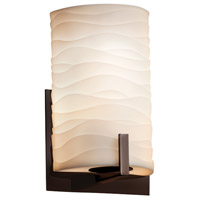 Justice Design Group Porcelina LED Wall Sconce in Dark Bronze PNA-5531-WAVE-DBRZ-LED1-700